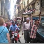crowded streets of Katmandu