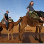 Joyce and Tom on camels 02