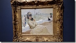Monet-Camille on the Beach at Trouville