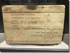 Anne Frank's Nazi Documentation of Anne at Auschwitz