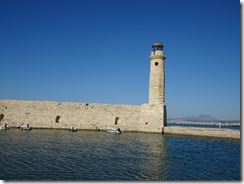 Tethymno harbor lighthouse