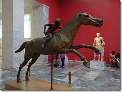 bronze statue of horse and jockey