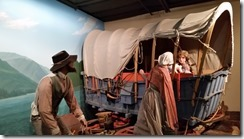 Columbia George museum pioneer wagons
