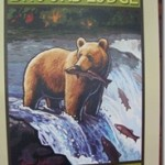 Bears catching salmon at top of Brooks Falls