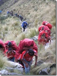 Porters carrying supplies 3-400