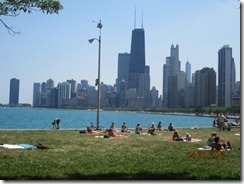 Lincoln Pk-North Ave Beach-Downtown View