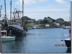 Menemsha Fishing Boat and homes