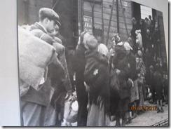 Auschwitz boarding trains