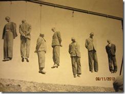 Krakow War museum hanging
