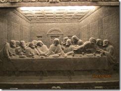 Salt mine chapel last supper sculpture