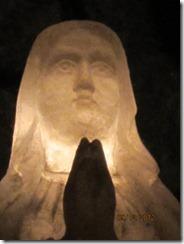Salt mine chapel sculpture backlit-g