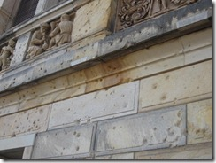 Bldg-shrapnel holes