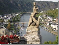Cochem castle-view over gargloye-g