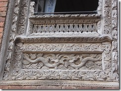 Dhulikheil Old Town wood carving on windows