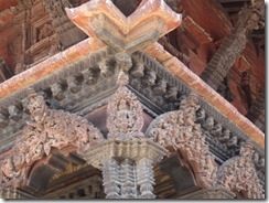 Patan Dunbar Square woodwork on temples