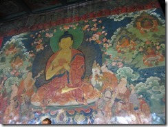 beautiful old wall paintings Jokhang Temple