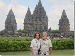 Joyce and Tom at Prambanan