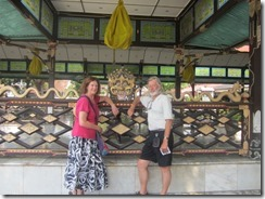 Joyce and Tom at Sultan's palace