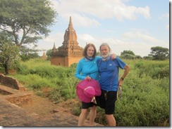 Joyce and Tom in front of stupa