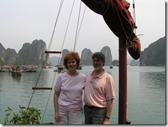 Halong Bay Joyce and Tom