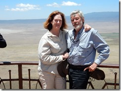 Joyce and Top at top of crater