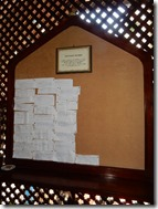 Message Board in African House Hotel 01