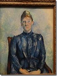 Cezanne - portrait of Mme Cezanne