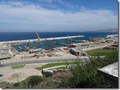 fishing harbor being built