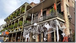 Halloween decorations for movie being shot 02