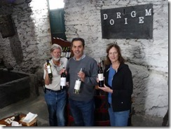 Olive Oil Museum and Velha Geracao winery Joyce and Tom with owner