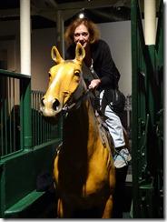 Joyce on horse