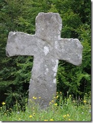 medival stone cross