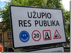 Uzupis independent republic sign