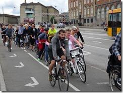 bikes commutimg on street