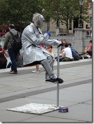entertainers in London - guy sitting in air