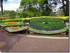 Auckland Albert Park flower clock