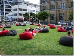Auckland people enjoying the outside