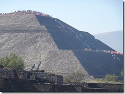 People on top of Pyramid of the Sun