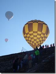 balloons over pyramid