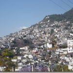 Taxco houses on hill