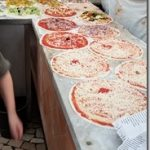 Ai Marmi pizzas lined up