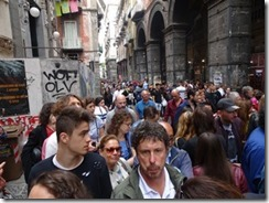 Naples Historic area - crowded streets_small