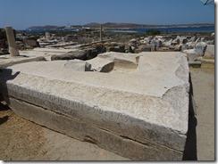 Delos - base for Apoillo statue
