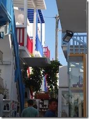 Mykonos painted railings