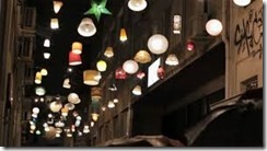 Psyri street with lampshades
