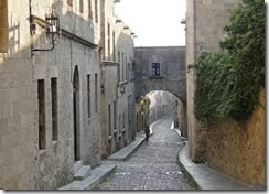 Rhodes Street of the Knights