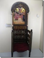Rila Monastery Museum bishops throne