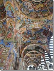 Rila Monastery church arcades 01
