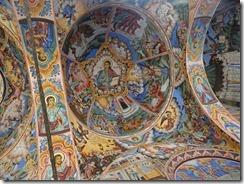 Rila Monastery church arcades 02