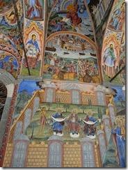 Rila Monastery church arcades 03